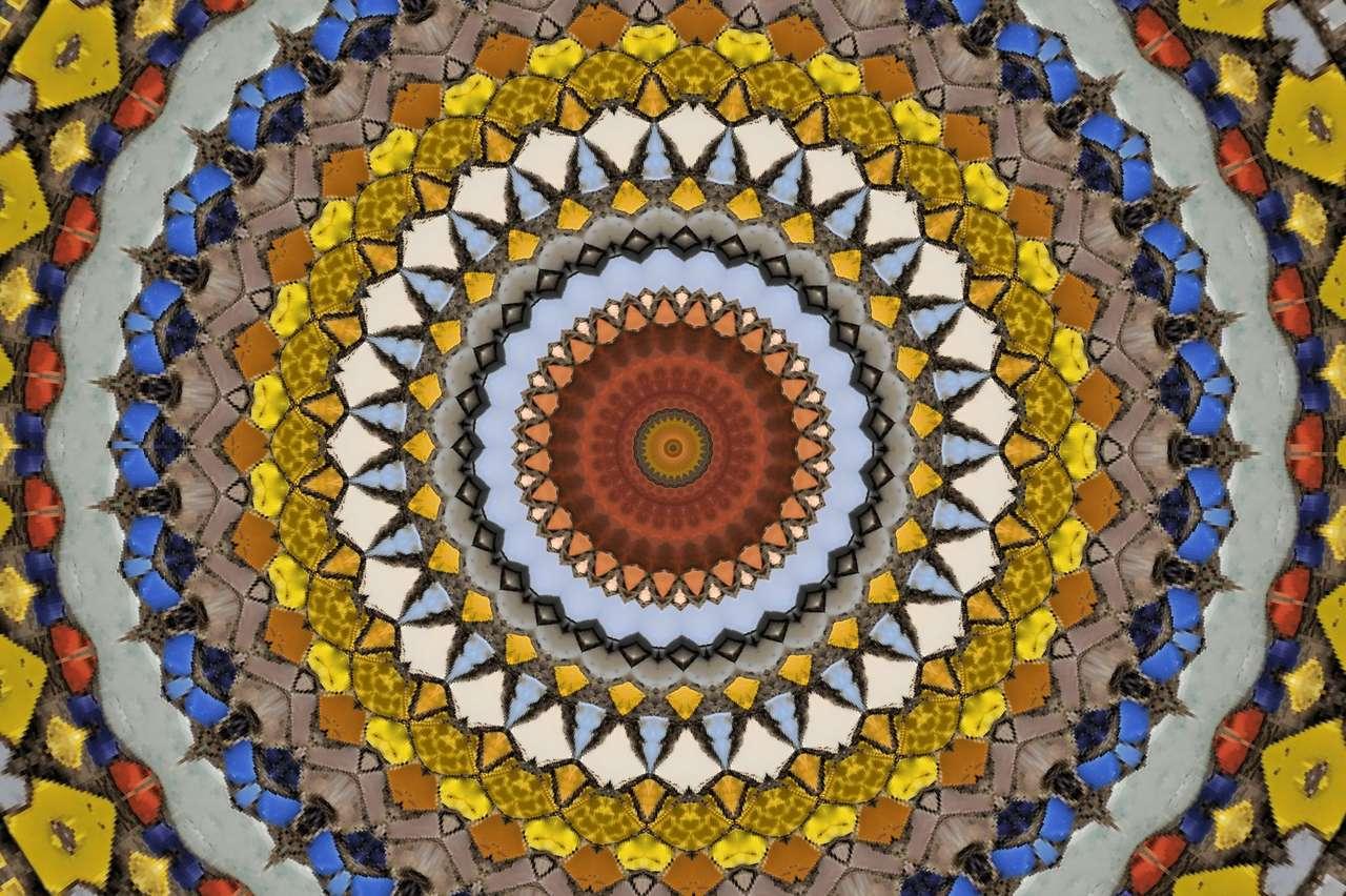 Antique Dekoracja mozaiki arabskiej mozaiki puzzle online