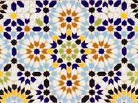 Orientalny islamski wzór wzoru