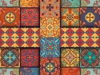 Portugalskie płytki w stylu Talavera