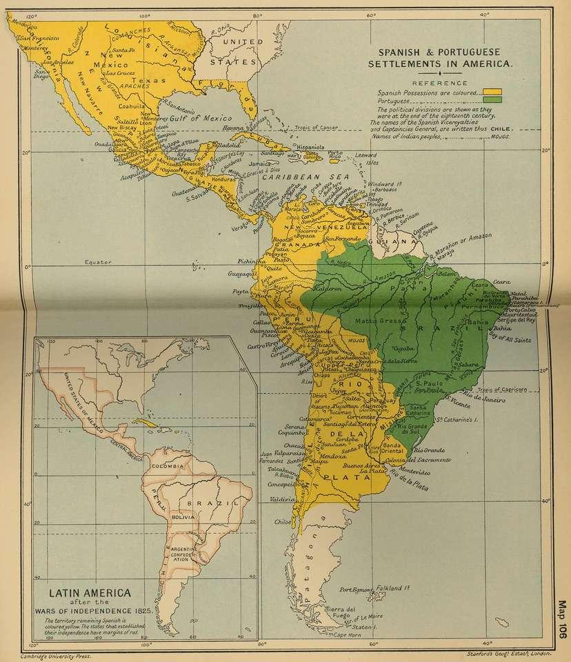 Mapa Ameryki 2021