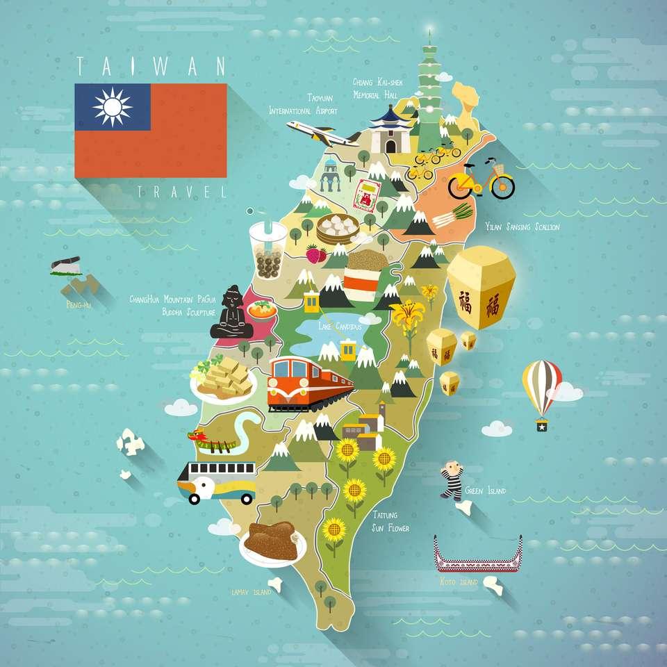 Tajwan Mapa podróży