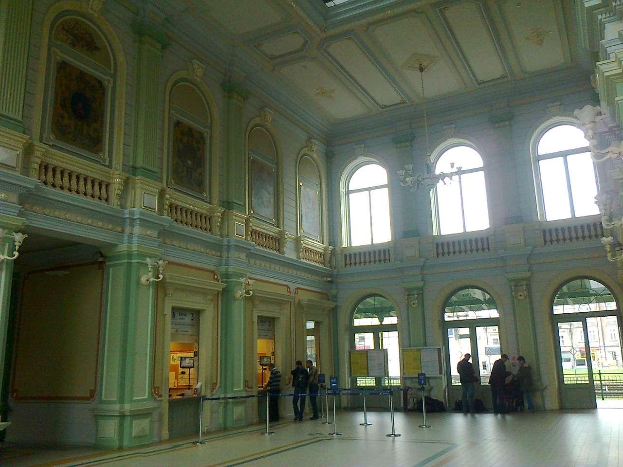 Wnętrze dworca PKP Przemyśl