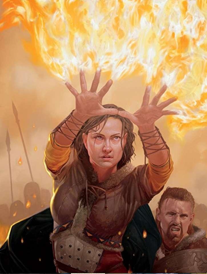 Płonące ręce