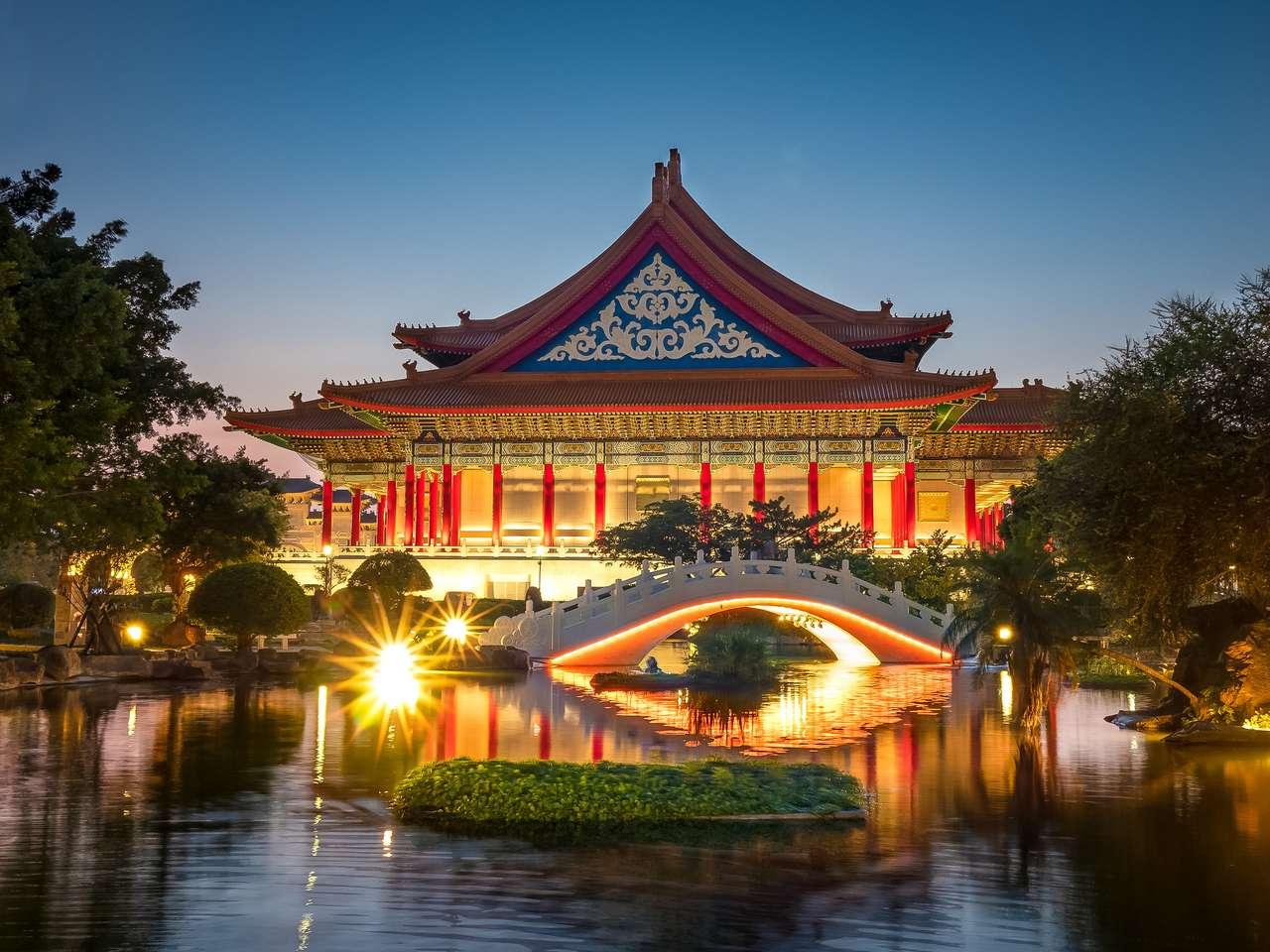 Krajowa sala koncertowa w Taipei puzzle ze zdjęcia
