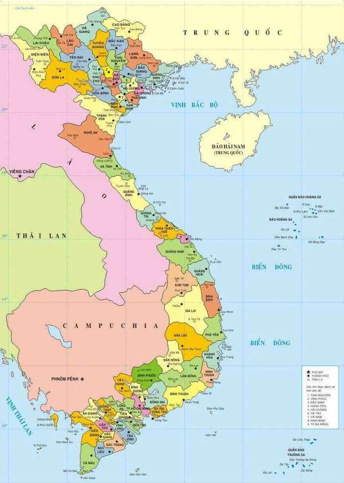 Mapa Wietnam.