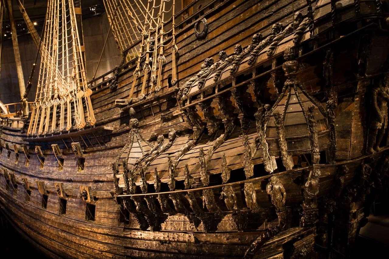 Morski statek Vasa, który opracowany i zatonął w Sztokholmie w 1628 roku
