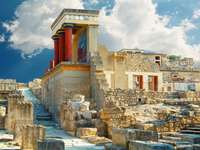Pałac Knossos na Krecie. Heraklion, Kreta, Grecja