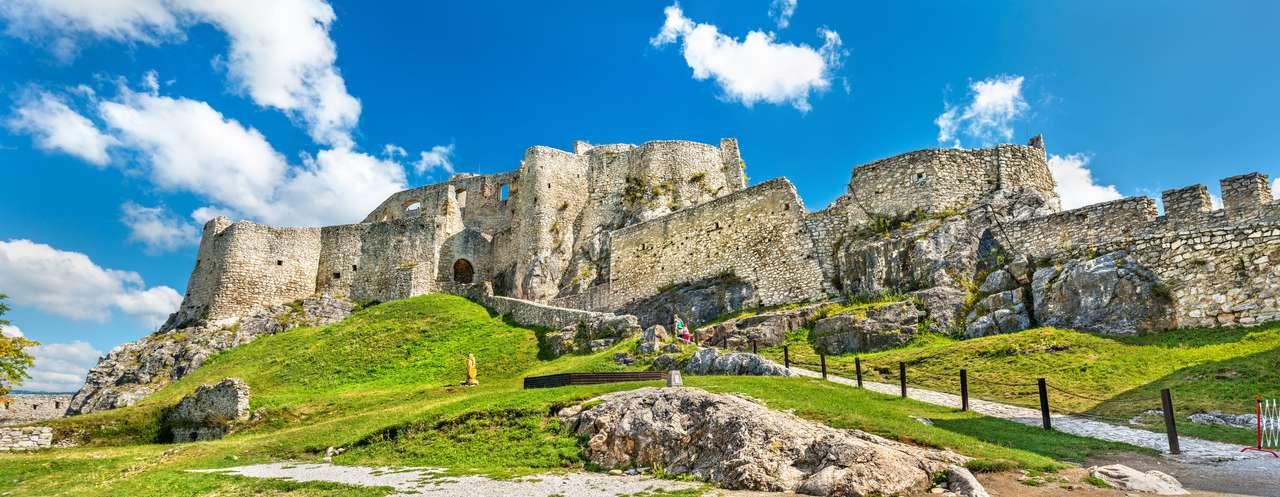 Zamek Spis, na Słowacji puzzle ze zdjęcia