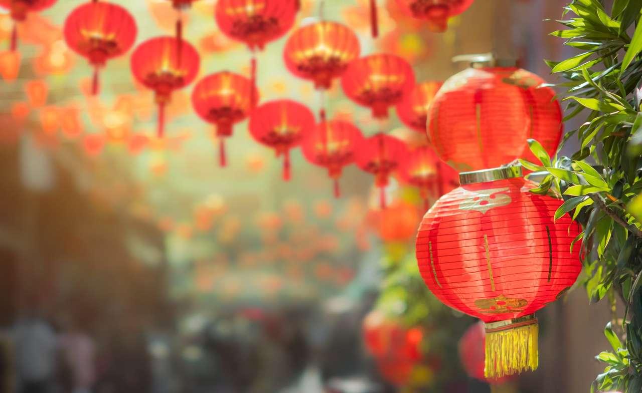 Latarnie chińskiego Nowego Roku w China Town
