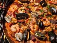 Hiszpański Paella.