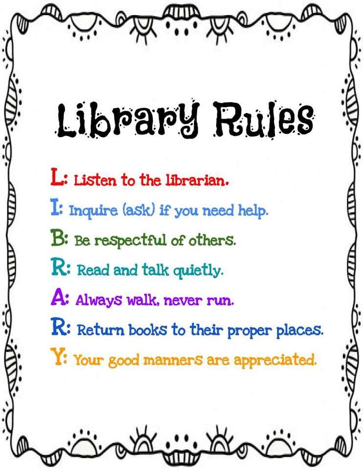 Zasady biblioteki.
