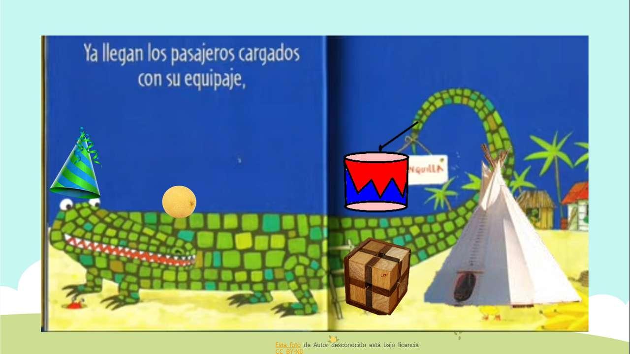 Aligator i geometryczne kształty