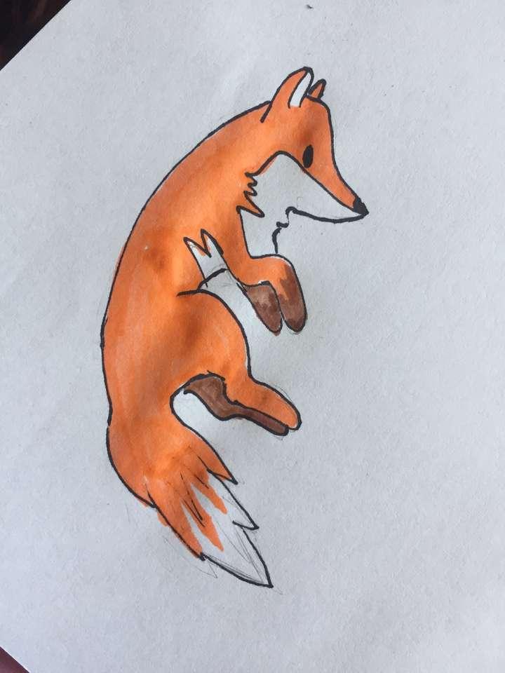 lis - rysunek puzzle online