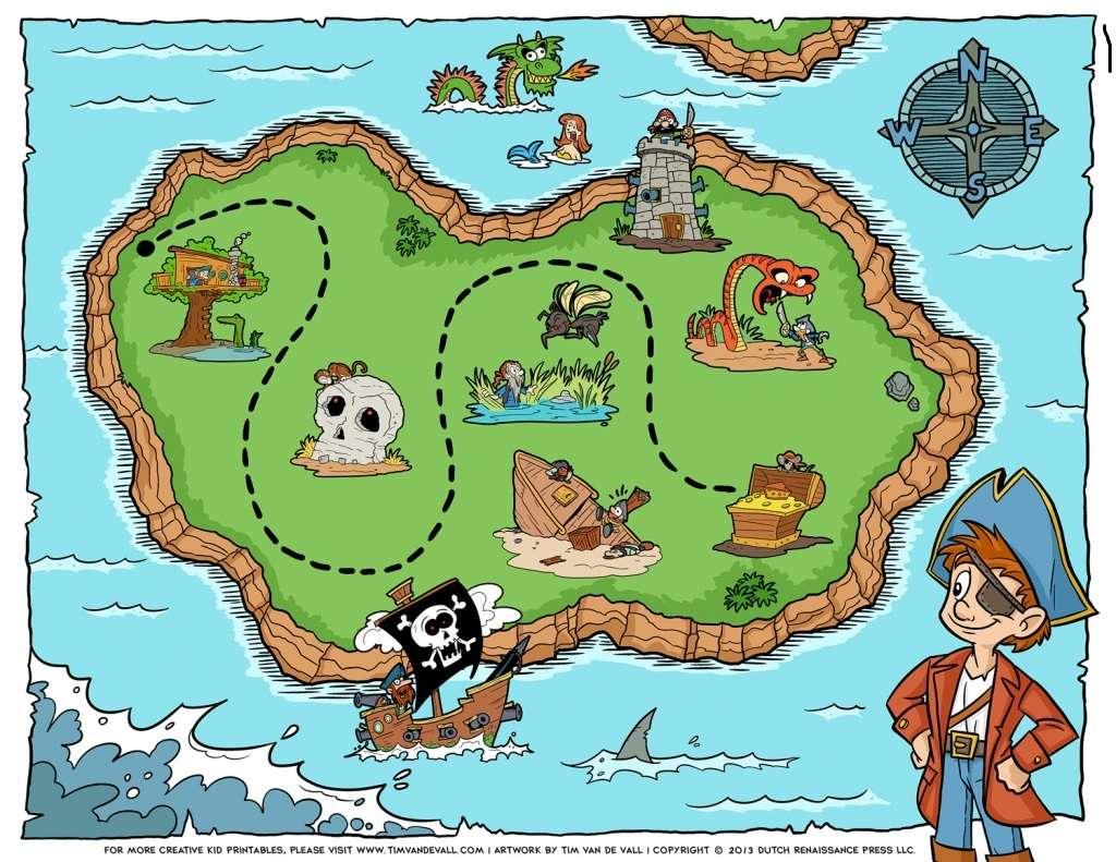piracka mapa skarbów Helene puzzle ze zdjęcia
