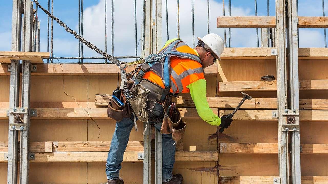 Pracownik budowlany puzzle