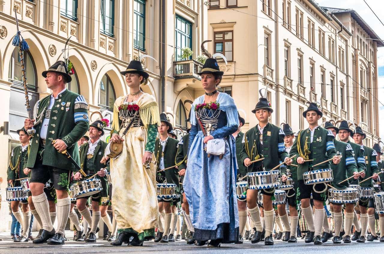 Otwarcie parady Oktoberfest puzzle ze zdjęcia