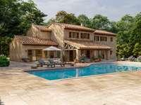Willa w stylu śródziemnomorskim z basenem i ogrodem