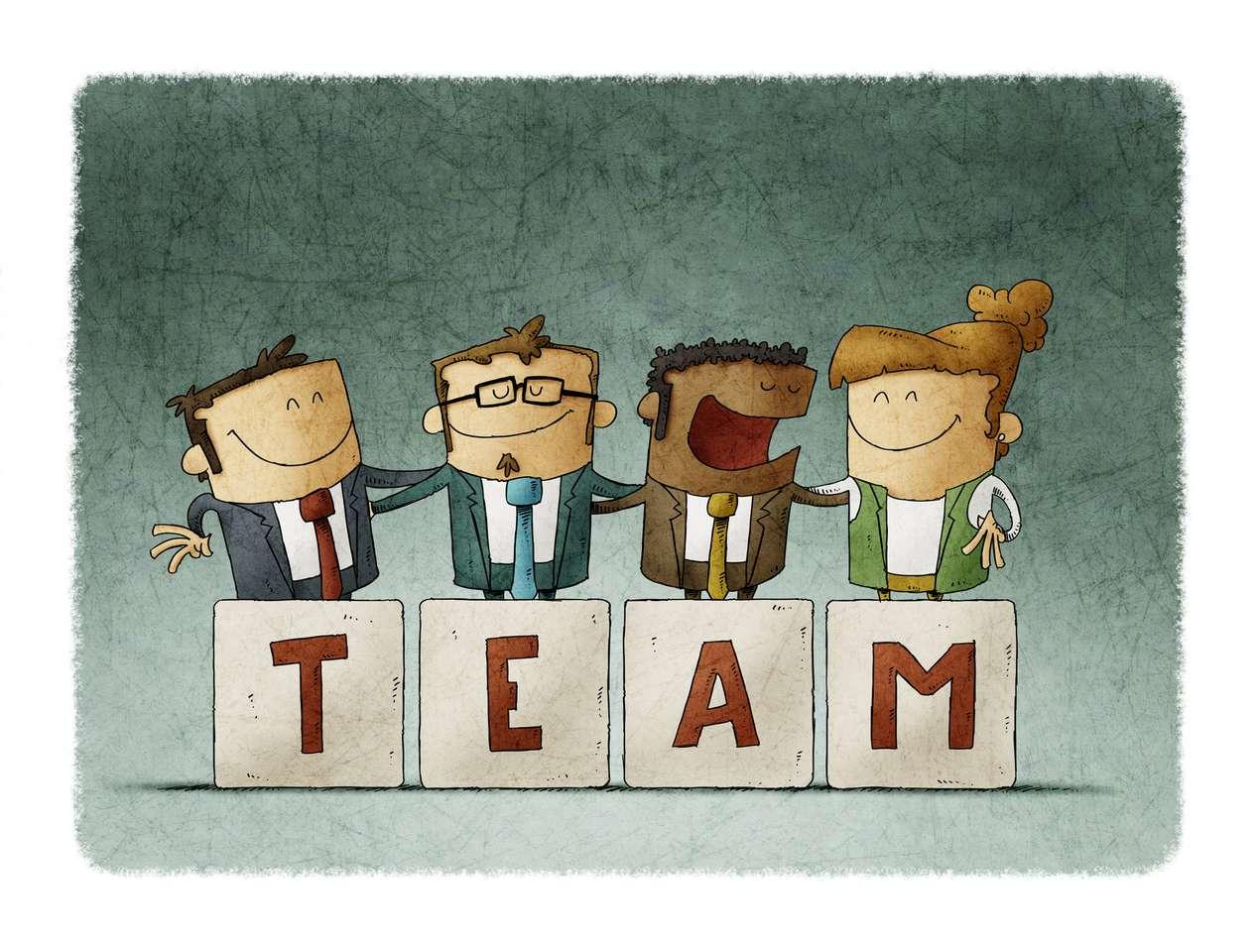 Puzzle do stymulowania pracy zespołowej puzzle ze zdjęcia