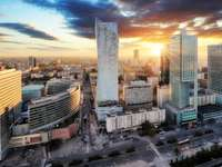 Panorama Warszawy, stolicy Polski, Europy