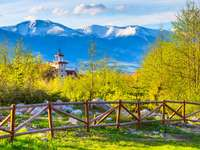 Bansko, Bułgaria wiosenny krajobraz