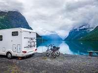 Naturalny krajobraz Norwegii