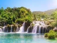 Wodospady w Parku Narodowym Krka w Chorwacji