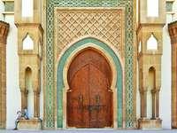 Islamskie drzwi meczetu Mohammeda IV