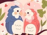 Puzzle z ptakami miłości