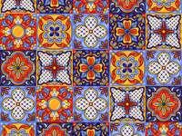 Wzór płytki ceramicznej meksykańskiej talavera
