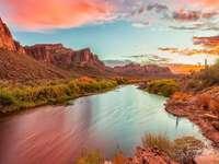 Zachód słońca w Arizonie