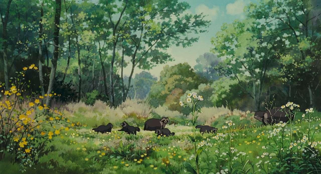 Studio Ghibli Racoons puzzle