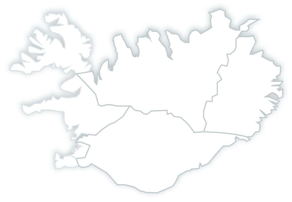 Mapa Islandii puzzle