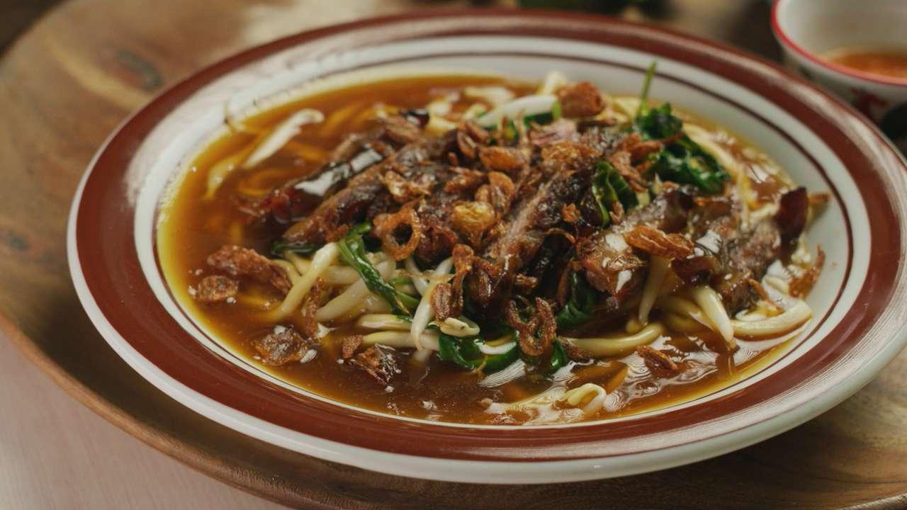 Jedzenie Bakmi Lomian