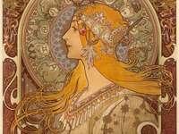 Art Nouveau puzzle ze zdjęcia