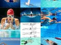 uderzenia pływackie puzzle ze zdjęcia